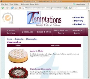 Temptations Cakes